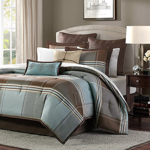 Home Essence Daniel 8Piece Jacquard Comforter Bedding Set Walmartcom