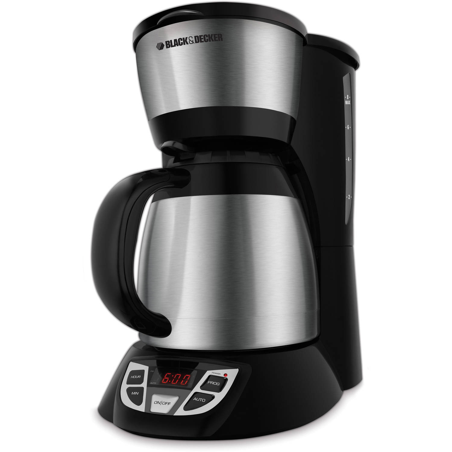 Black Decker 8 Cup Thermal Programmable Coffee Maker Stainless Steel And Cm1609