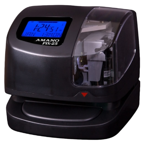 Amano AMAPIX25 PIX-25 Portable Time Clock & Date Stamp by Amano