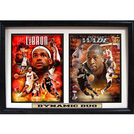 NBA Miami Heat Dynamic Duo Double Custom Frame, 12x18