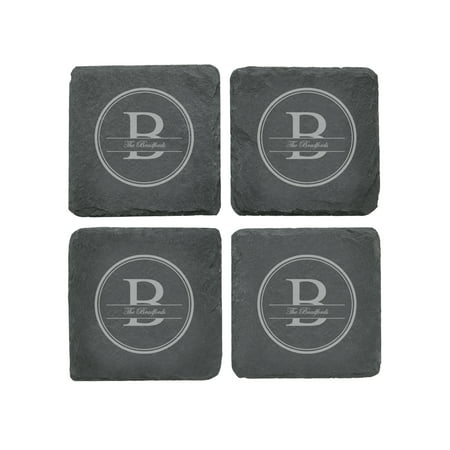 Personalized RedEnvelope Family Name Slate Coasters