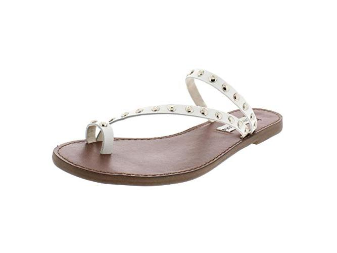 steve madden white strappy sandals