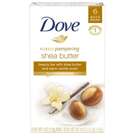 (2 pack) Dove Shea Butter Beauty Bar, More Moisturizing Than Bar Soap, 4 oz, 6 (Top 10 Soap Brands In India 2017)