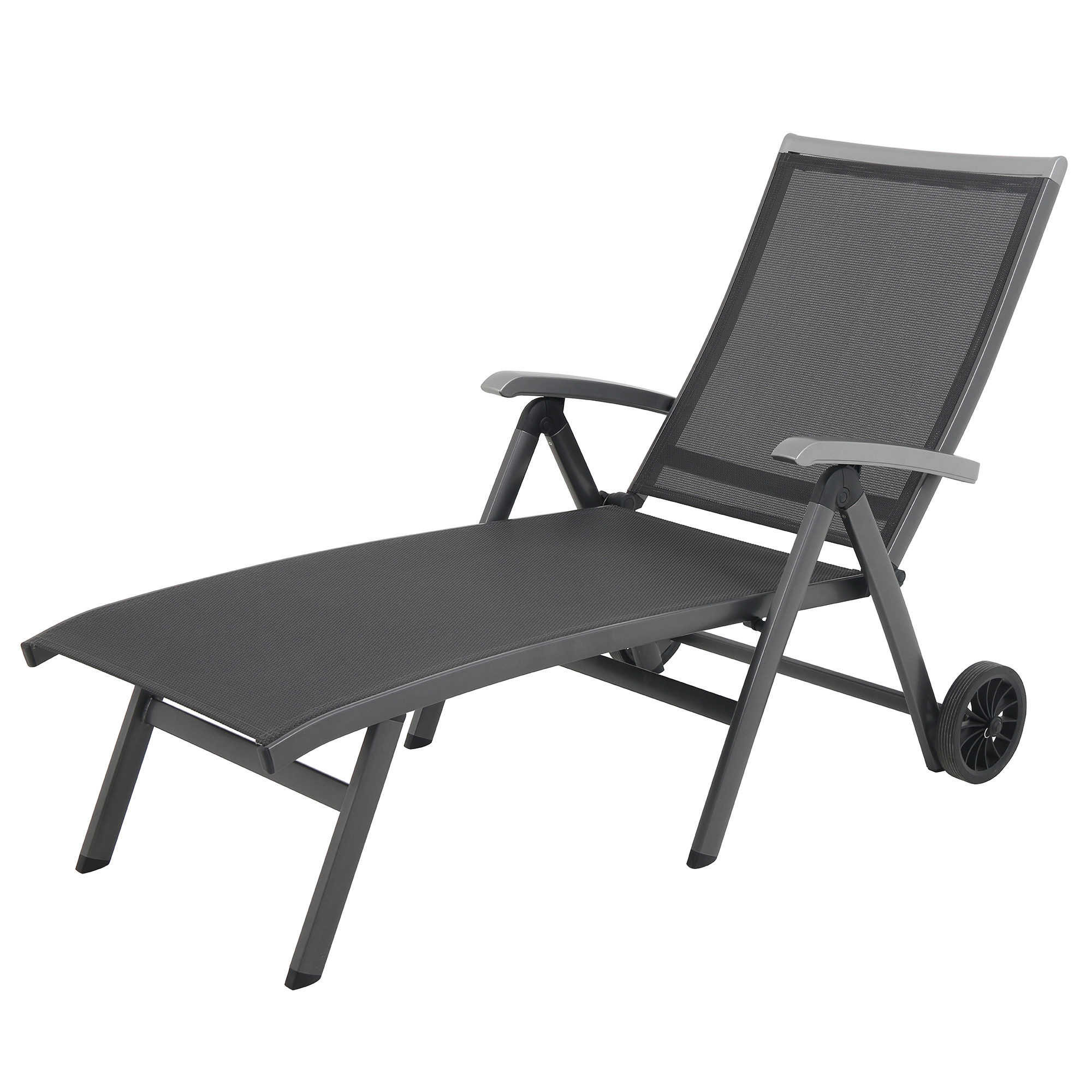 Royal Garden Ludwig Pool Patio Adjustable Chaise Lounge C...