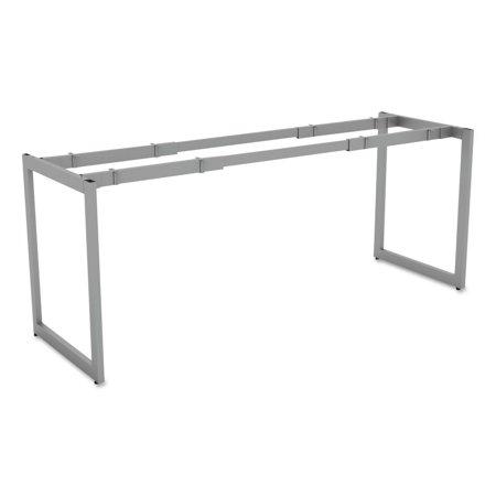 Alera Alera Open Office Desk Series Adjustable O Leg Desk Base  24   Deep  Silver