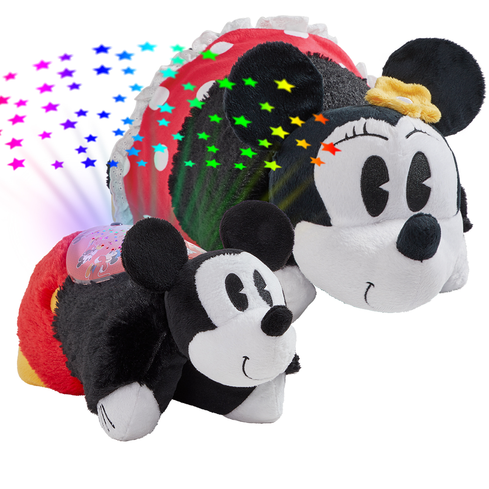 Pillow Pets Disney Combo Pack-Retro Minnie Mouse Pillow Pet and Retro Mickey Mouse Sleeptime Lite