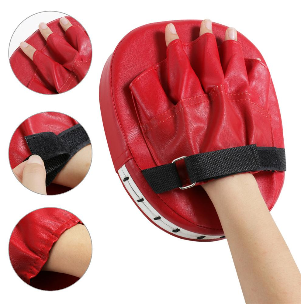 Topeakmart 2 PCS Punching Mitt PU Boxing Pads Training Punching Mitt with 5 Finger Slots for Fitness Practice by Topeakmart