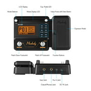 Muslady MU100 Guitar Multi-effects Processor Electric Guitar Effect Pedal Supports 180s Loop Recording Tuner Tap Tempo Rhythm Setting Scale & Chord Lesson Functions
