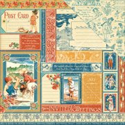 """Children's Hour Double-Sided Cardstock 12""""X12""""-July Collective"""
