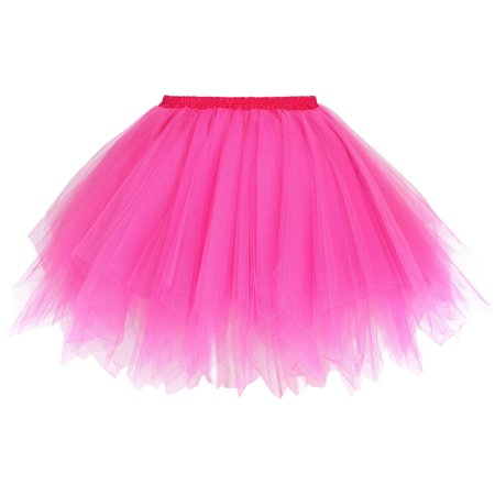 Women's Vintage Princess Ballet Tulle Tutu Skirt Petticoat Hen Party Pettiskirt