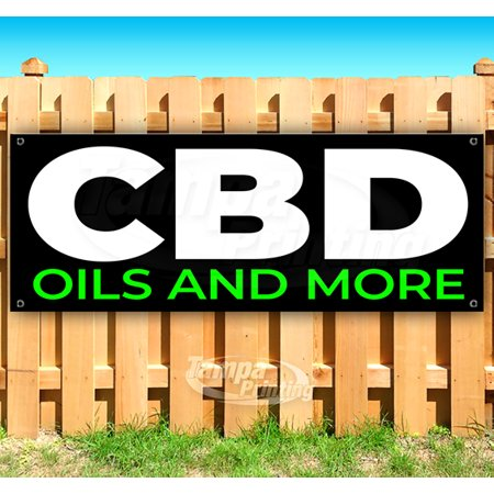 CBD Oils and More 13 oz heavy duty vinyl banner sign with metal grommets, new, store, advertising, flag, (many sizes...