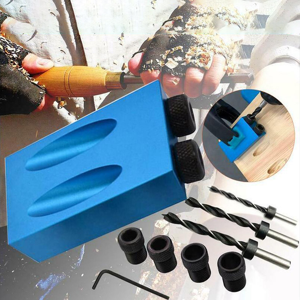 14 Pocket Hole Screw Jig DIY Dowel Drill Joinery 6//8//10mm Locator Woodwork Tool