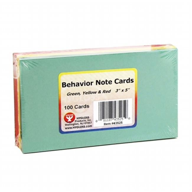 Hygloss Products Inc. HYG43525 Behavior Cards 3X5 100Pk Assorted