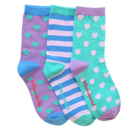 LittleMissMatched Marvelous Hearts Ankle Socks - 3 Socks ()