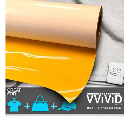 Yellow Iron On Letter Heat Transfer Paper Vinyl Decal Roll Heavy-Duty HTV Film 12