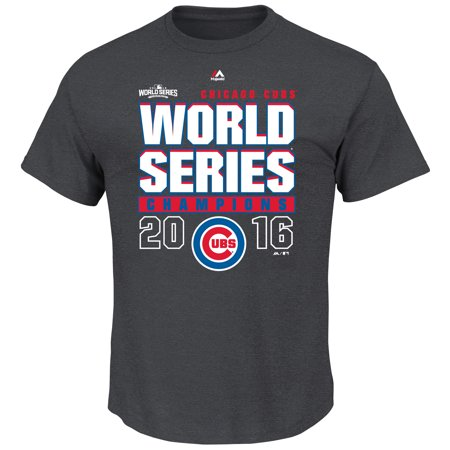Chicago Cubs Majestic 2016 World Series Champions Big & Tall Roaring Glory Locker Room T-Shirt - Black
