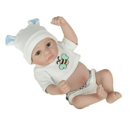 28cm Lovely Kids Reborn Baby Doll Washable Soft Vinyl Lifelike Newborn Doll Girl Boy Best Birthday Gift For Boys Girls - image 8 de 8