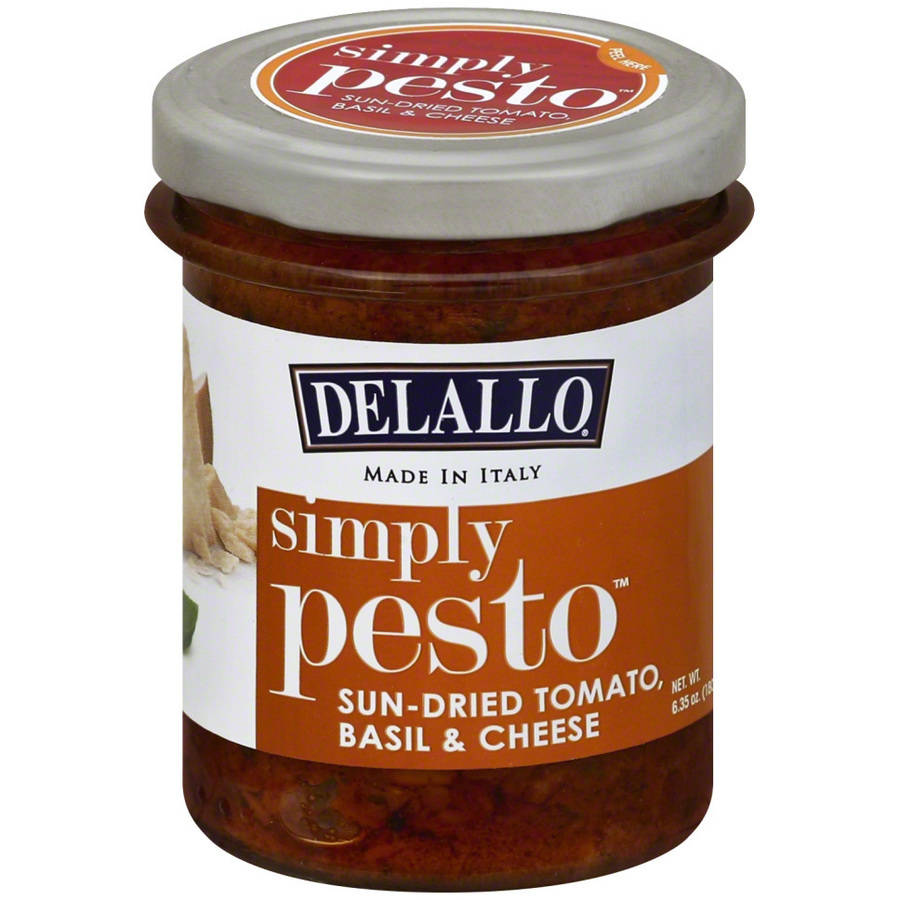 Delallo Simply Pesto Sundried Tomato Basil Cheese, 6.35 oz, (Pack of 6)
