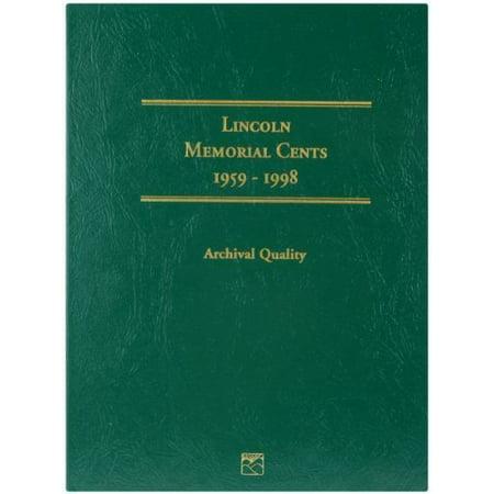 Littleton 1959-1998 Lincoln Memorial Cent Folder by Littleton, 1959-1998 Coin Folder By Littleton Custom Coin Folder