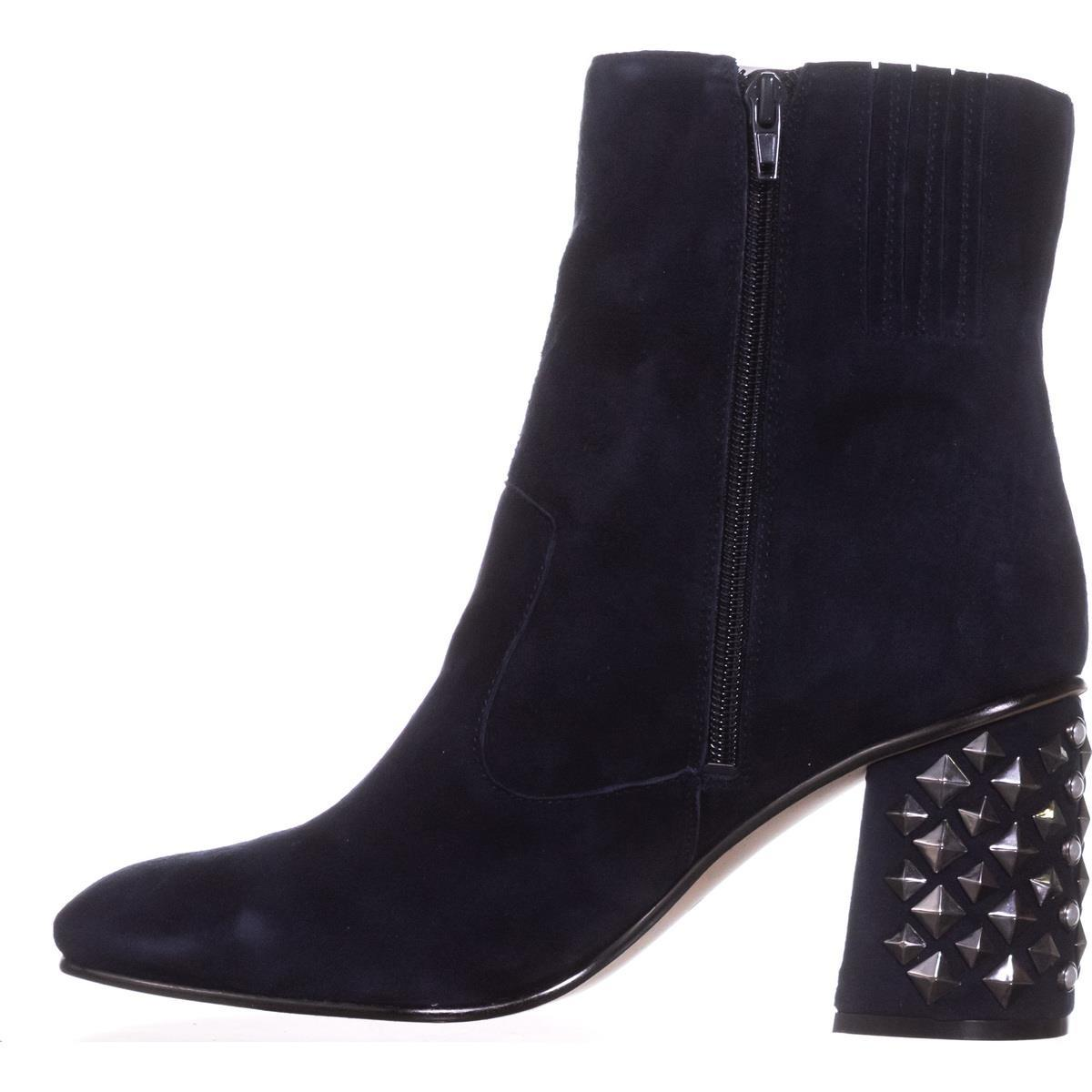 Womens Guess Madeup Studded Heel Ankle Boots, Dark Blue, 11 US