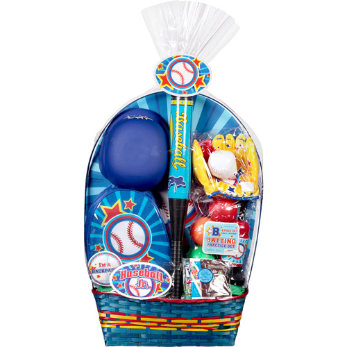 Baseball Easter Basket with Toys and Assorted Candies