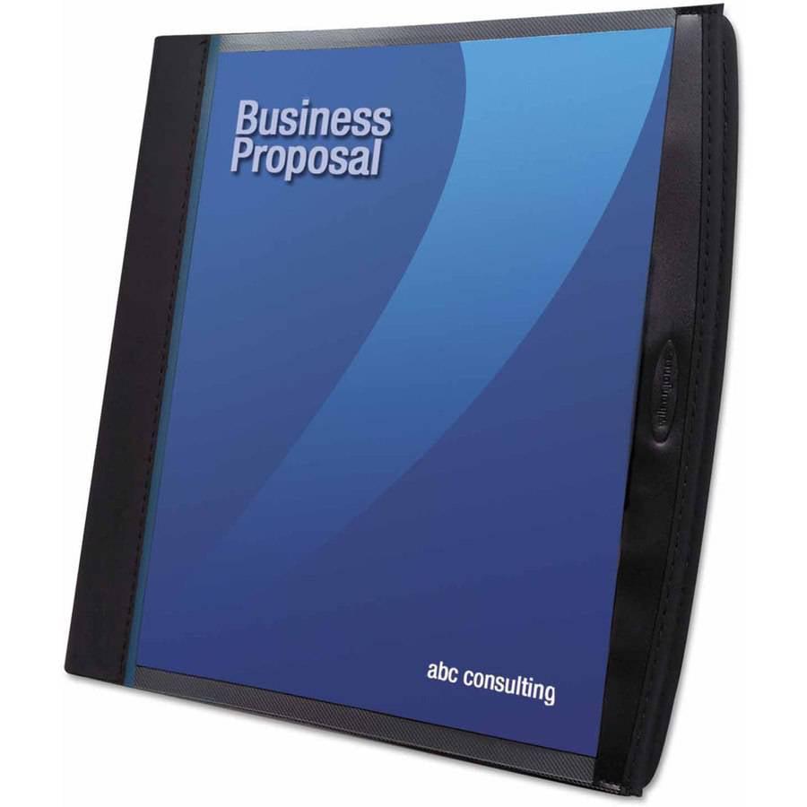 Wilson Jones Smart-View Multi-Ring Presentation Book, 12 Letter-Size Sleeves, Black/Blue