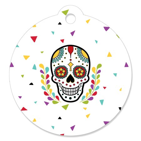 Day Of The Dead - Halloween Sugar Skull Party Gift Tags (Set of - Halloween Gift Tag Ideas