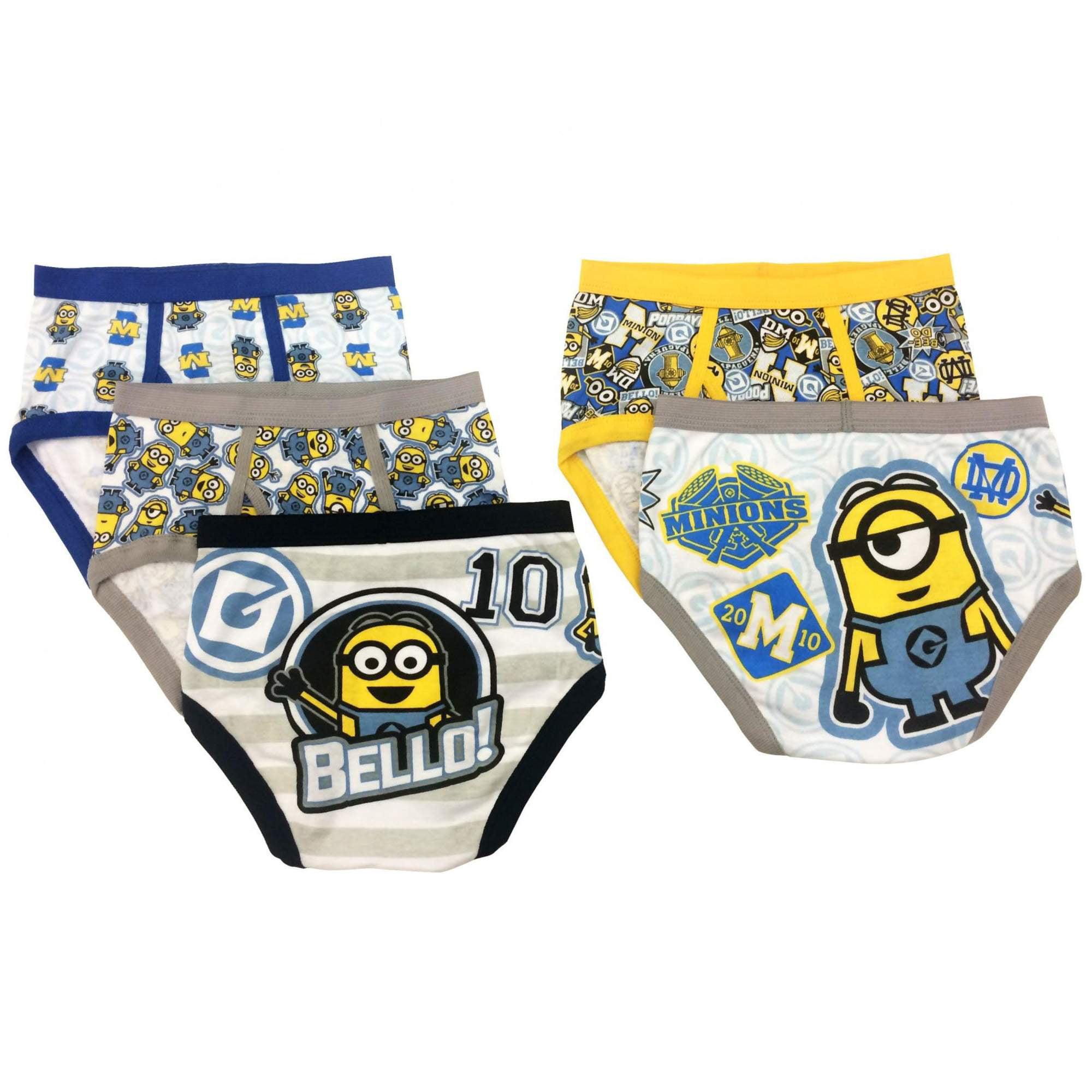 Minion in panties Despicable Me Despicable Me Minions Boys Underwear 5 Pack Briefs Little Boys Big Boys Walmart Com Walmart Com