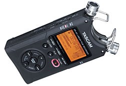 Tascam DR 40 Handheld 4 track Portable Digital Recorder with Built In Stereo Microphone