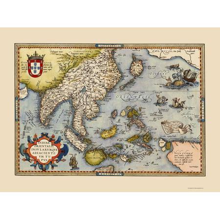 Old asia map southeast asia indonesia philippines japan old asia map southeast asia indonesia philippines japan ortelius 1587 23 x 3063 walmart gumiabroncs Choice Image