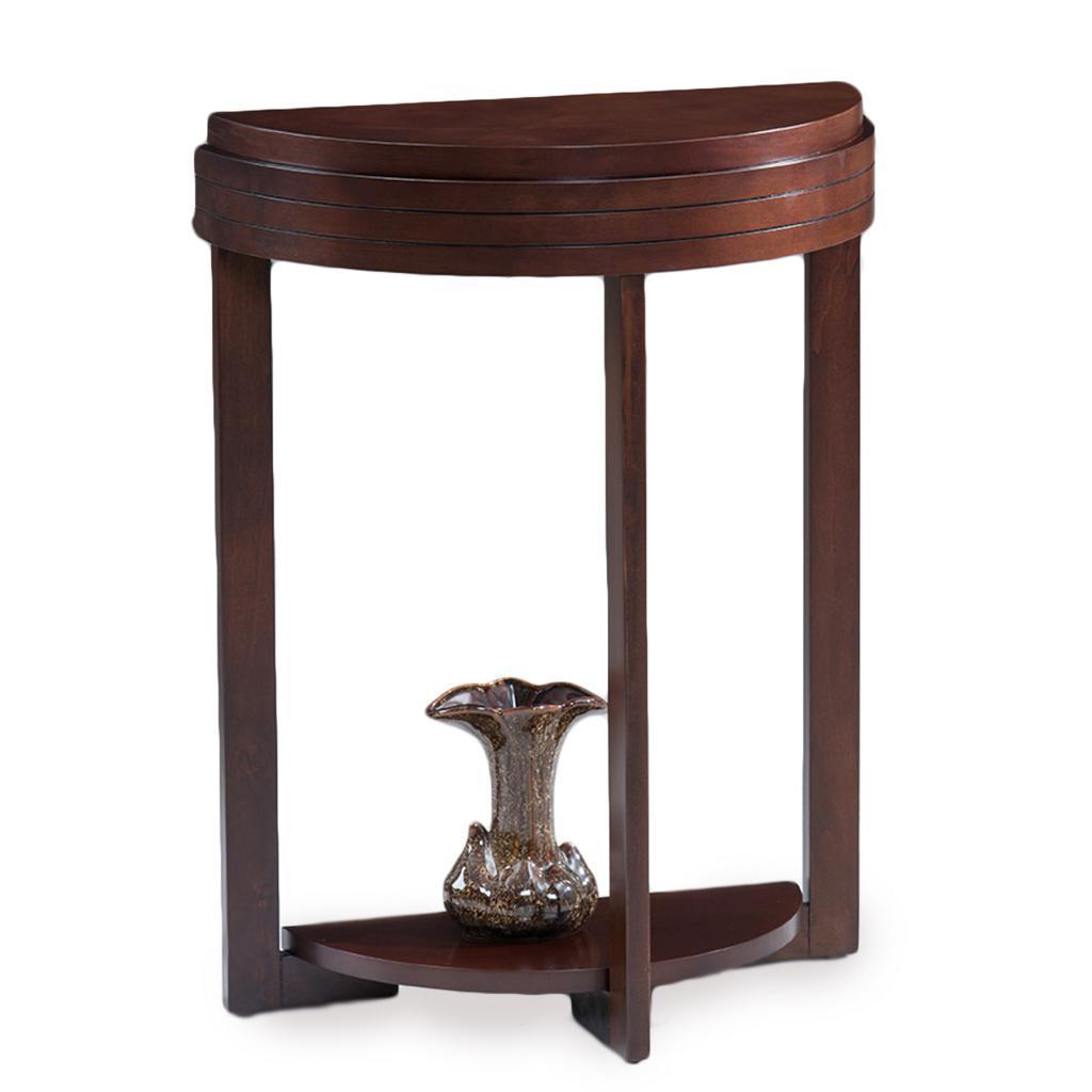 KD Furnishings Favorite Finds Chocolate Cherry Demilune Hall Stand