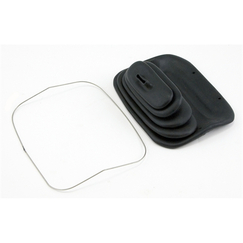 Omix Ada M20 Transfer Case Shifter Boot, Rectangle Base, Rubber, Black, Trim Ring, Jeep, Each 18606.02