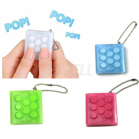Bubble Wrap Key Chain Squeeze