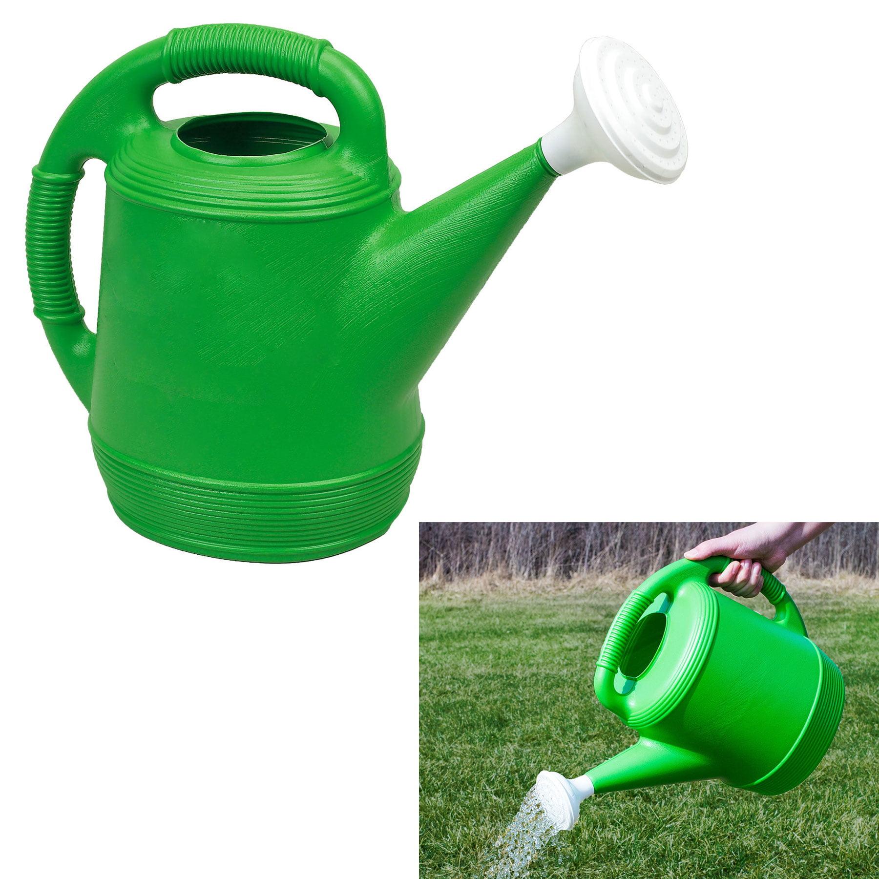 Classic Gardeners 2 Gallon Green Plastic Watering Can Indoor Outdoor by