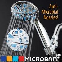 AquaDance Microban Antimicrobial/Anti-Clog High-Pressure 6-setting Hand Shower