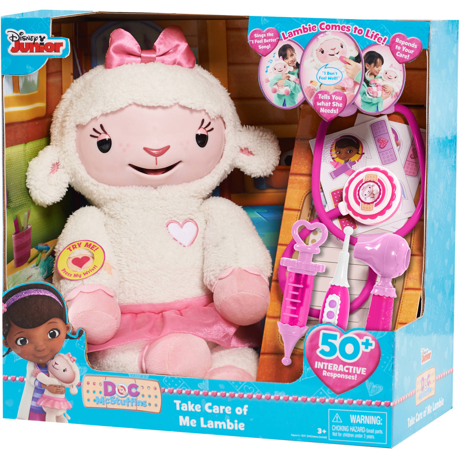 Doc McStuffins Take Care of Me Lambie Interactive Plush