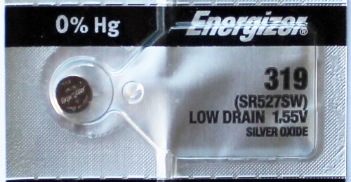 2PC Energizer 319 SR527SW 1.55V Silver Oxide Cell Battery Made in Japan by Energizer Batteries