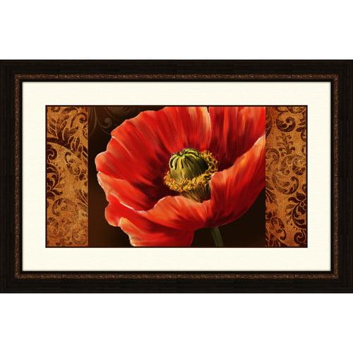 Pro Tour Memorabilia Rouge Poppy Under Glass Print