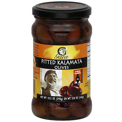 Gaea Pitted Kalamata Olives, 5.8 oz (Pack of 8)