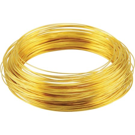 Hillman Group Inc-Ook 50150 25' 16-Gauge Brass Hobby - Brass Hobby Wire