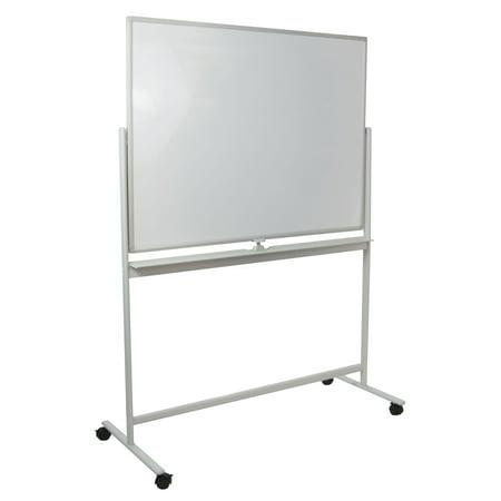 mobile dry erase board magnetic double sided whiteboard aluminum frame stand. Black Bedroom Furniture Sets. Home Design Ideas