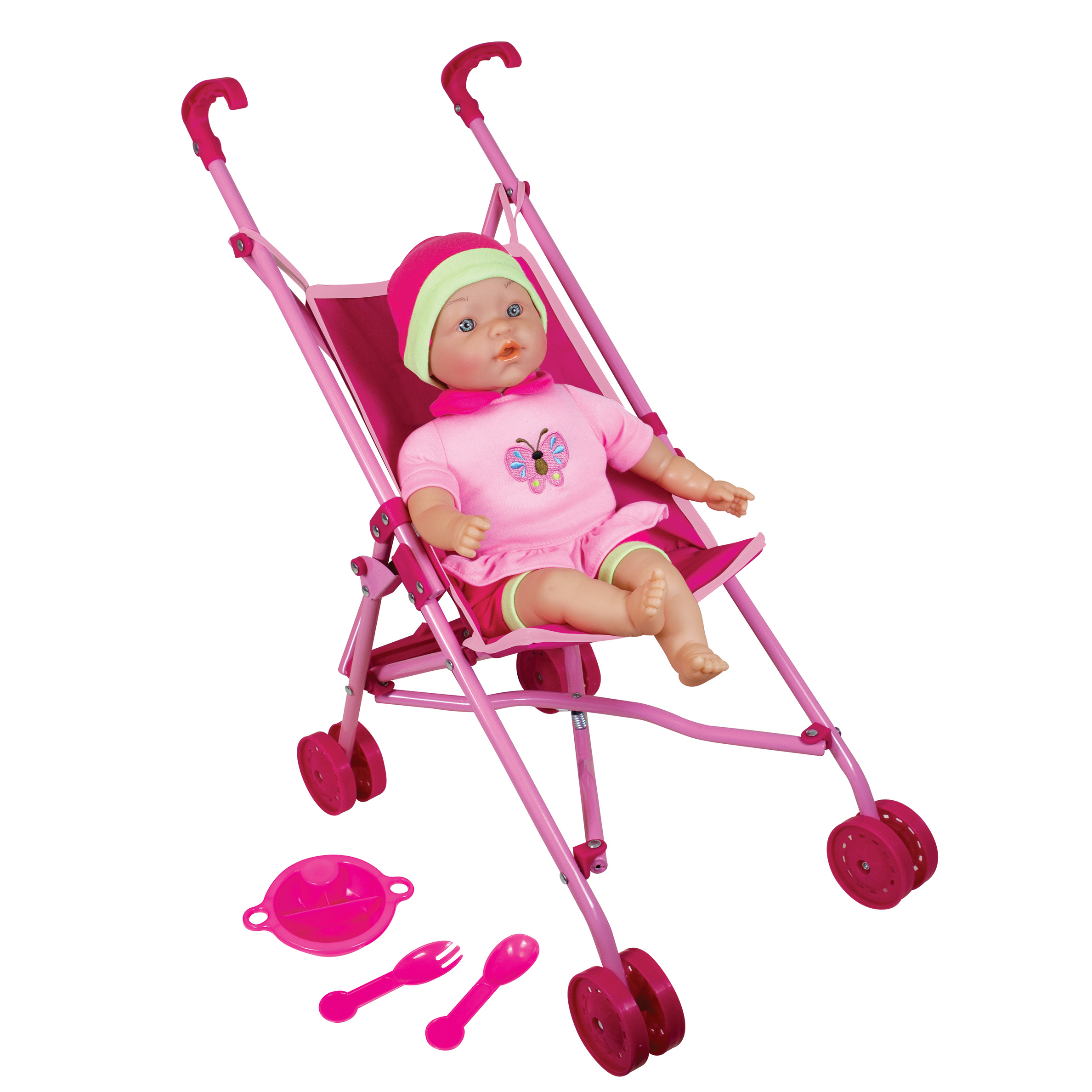 "Lissi Doll Umbrella Stroller Set with 16"" Baby Doll by Lissi"