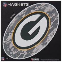 "Green Bay Packers 6"" x 6"" Digi Camo Oval Car Magnet - No Size"