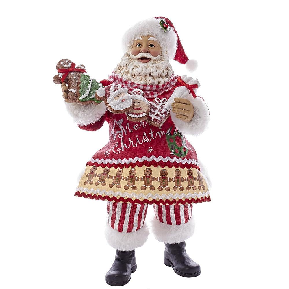 Santas Little Helper Collection 11-Inch Fabrich Gingerbread Santa