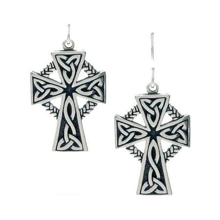 78691a022 Jewelry Trends - Sterling Silver Large Celtic Cross Earrings - Walmart.com
