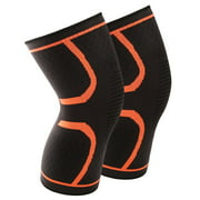 1 Pair Knee Compression Sleeves Warm Keeping Joint Injury Recovery Aid Arthritis Pain Relief Brace Sports Support Pads for Running,Hiking,Basketball,for Women Men Kids
