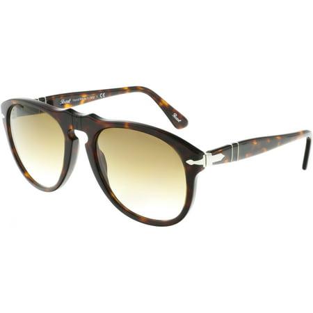 Persol PO0649-24/51-54 Brown Oval Sunglasses