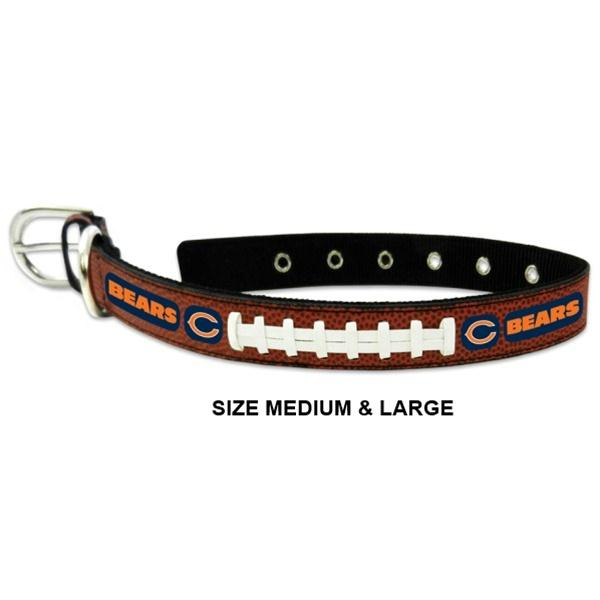 Chicago Bears Classic Leather Football Collar - Toy