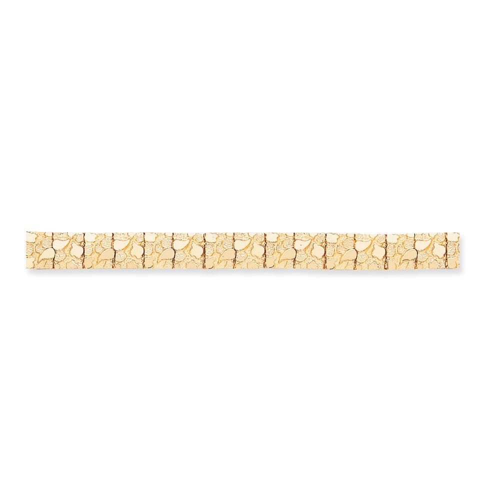 14k Yellow Gold 8in 12.50mm Nugget Bracelet