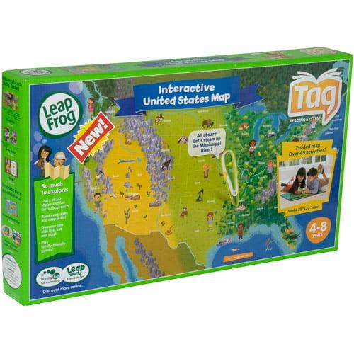 Leapfrog Interactive United States Map.Leapfrog Tag Maps Usa Walmart Com